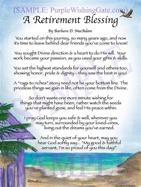 A Retirement Blessing Framed Alized Gifts