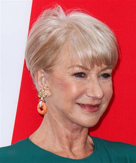 Helen Mirren Short Straight Casual Hairstyle