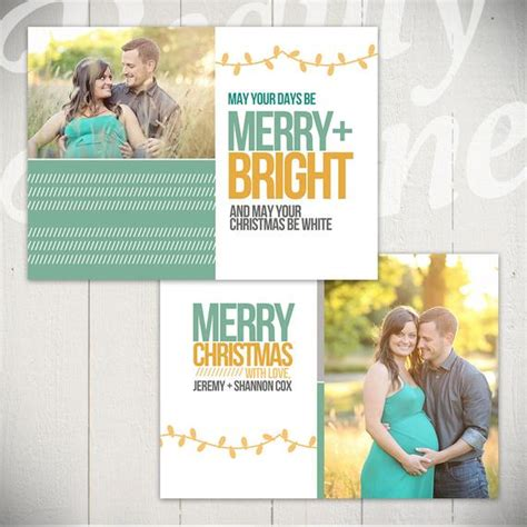 Merry And Bright Card Template by Card Template Merry Bright B 5x7 Card