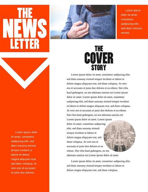 printable email newsletter templates lucidpress