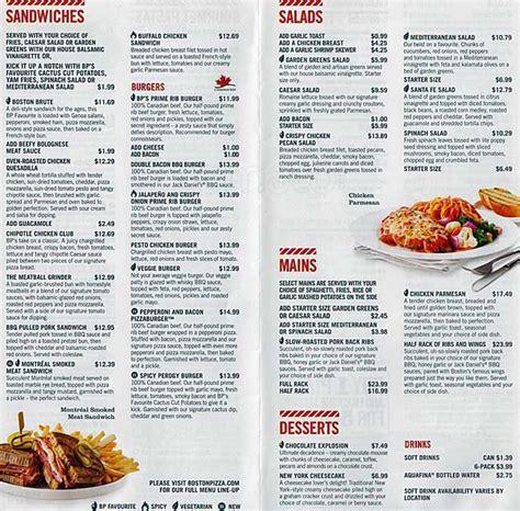 menu design ottawa image gallery boston s menu