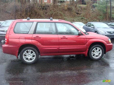 red subaru forester 2000 2005 cayenne red pearl subaru forester 2 5 xt 1830166