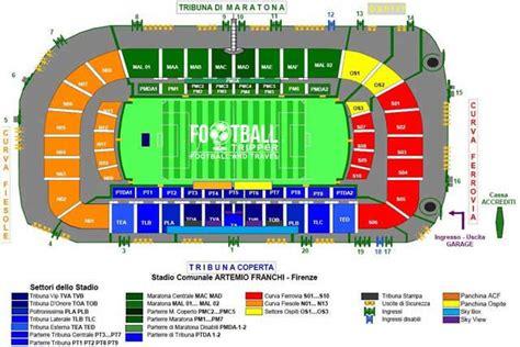 mappa juventus stadium ingressi stadio artemio franchi acf fiorentina football tripper