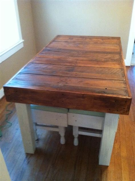reclaimed pallet wood dining table upcycled louisiana