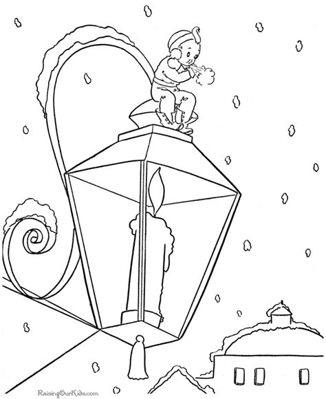 printable xmas scenes free coloring pages of victorian scene