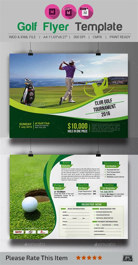Golf Tournament Flyer Template By Aam360 Graphicriver Golf Tournament Flyer Template