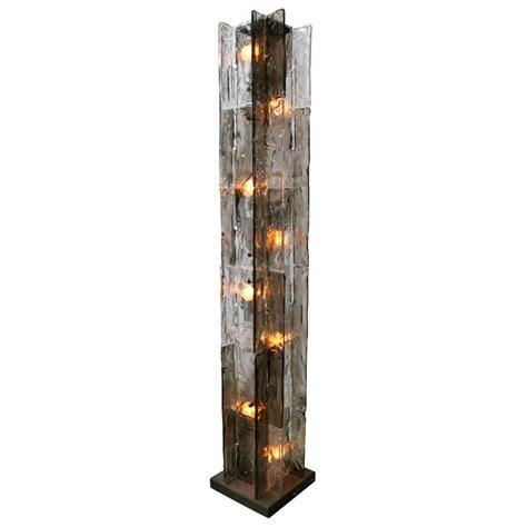 Mazzega Glass Column Floor Lamp  Stdibs