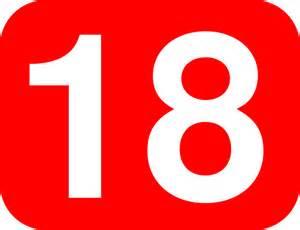 Number 16 green printable number 17 green printable number 18