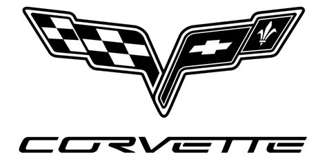 vintage corvette logo black and white corvette logo clipart