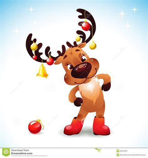 imagenes navidad divertidas la navidad divertida del reno stock de ilustraci 243 n