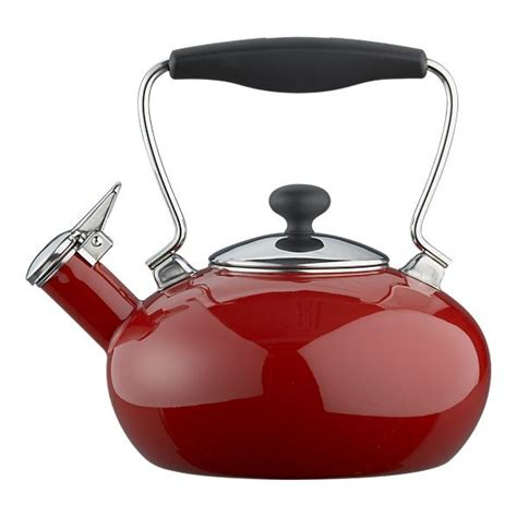 Red Shed Home Decor by Chantal 174 Red Bridge Tea Kettle Modern Kettles By