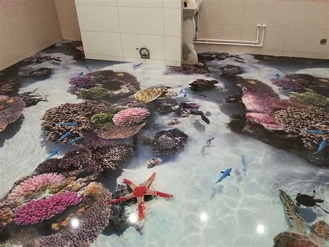 3d floors turn your bathroom into an ocean bored panda