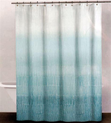 Dkny Dk01 Sea Blue B dkny fabric shower curtain aqua blue and