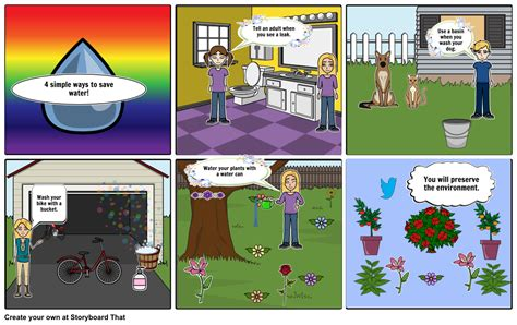 7 Ways To Conserve Water by 7 Ways To Save The Water 3 Storyboard By Mila77