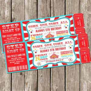 circus ticket template free vintage circus carnival invitation ticket invitation