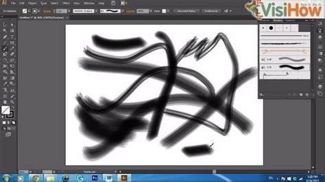 line art tutorial illustrator cs6 create a bristle brush in adobe illustrator cs6 visihow
