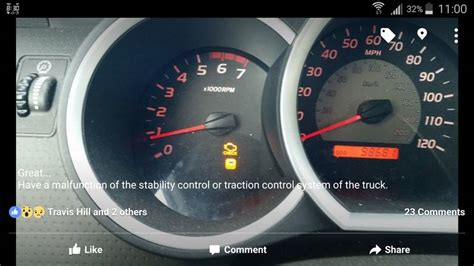 toyota tacoma check engine light  traction control