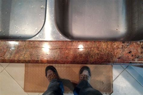 Fixing Marble Countertops by Repairing Cracked Granite At Sink Cutouts Jlc