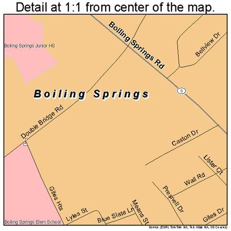 springs carolina map boiling springs south carolina map 4507345