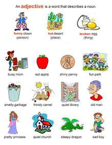 Adjective Essay Exle by Adjectives Learning Basic Grammar