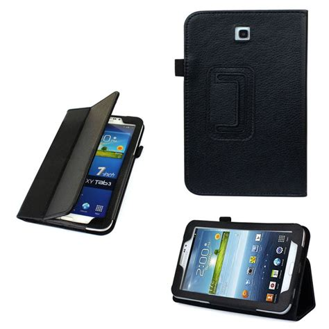 Leather Flip Samsung Tab 3 7inch P3200 folio flip leather cover stand for samsung galaxy tab 3 7 p3200 back skin ebay