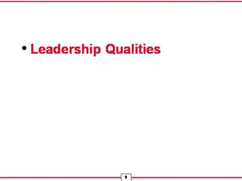 powerpoint templates for leadership qualities leadership qualities authorstream