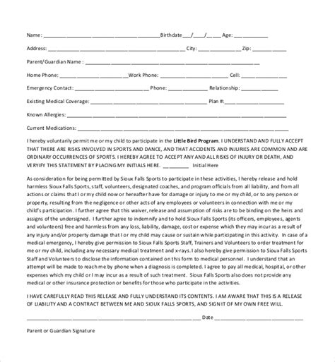 sample medical release forms sample forms