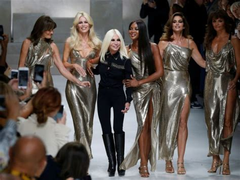 Ten Years On Pay Tribute To Gianni Versace by Supermodels Gather In Milan To Pay Tribute To Versace