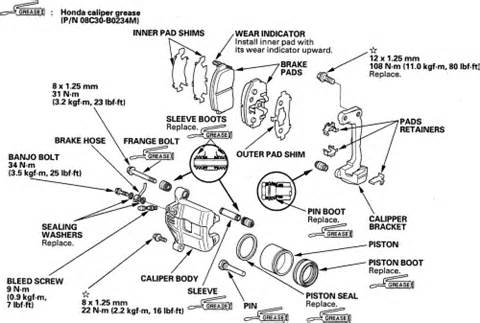 Check Brake System Honda Pilot How Do You Change Pads On A 2006 Honda Pilot