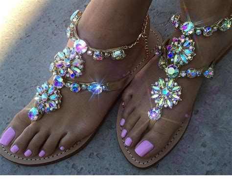 girly flat shoes shoes sandals glitter bling summer pink strass girly