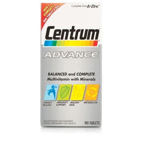 Centrum Advance 100tab centrum advance 100 tablets vitamins chemist direct