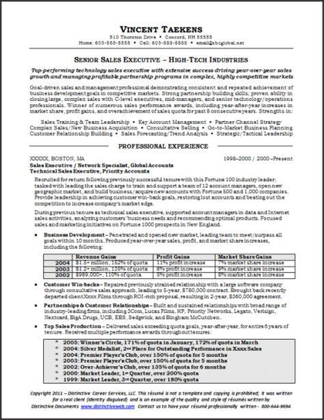 Cfo Resume Sles by Sales Resume Sle