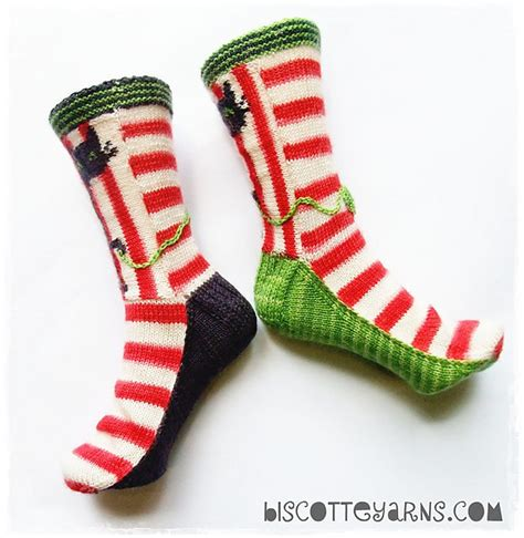 biscotte s folly knitted cat socks pattern available
