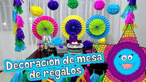 decoracion de cumpleanos mesa de regalos youtube