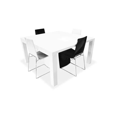 table salle a manger carree 140x140 table salle manger carree blanche
