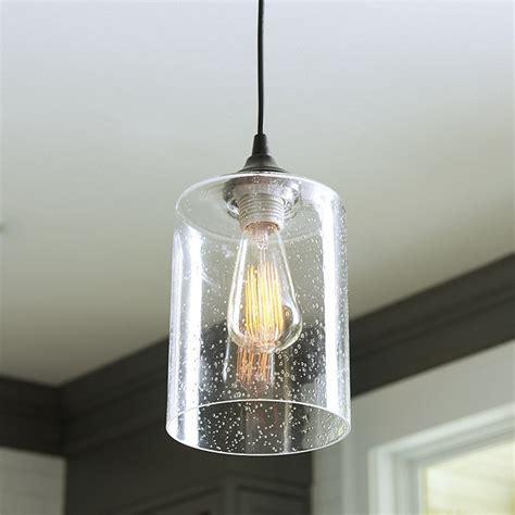 Can Light Pendant Can Light Adapter Seeded Glass Pendant Ballard Designs