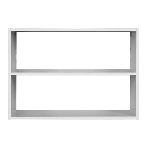 shop rubbermaid homefree series white wood 3 shelf unit at