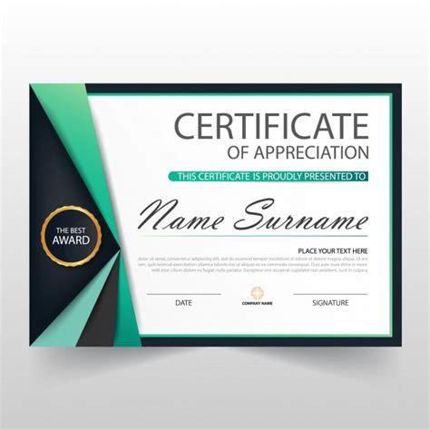 free certificate of appreciation template downloads certificate of appreciation template vector free