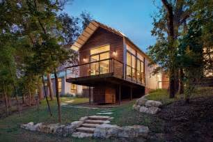 Small Lake House Small Lake House Exterior Contemporary With Balcony Deck