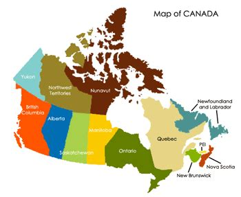 map of canada provinces and cities canadian geography canada faq