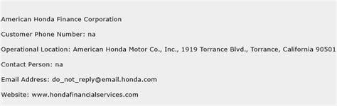 Honda Customer Service Number by American Honda Finance Corporation Customer Service Phone