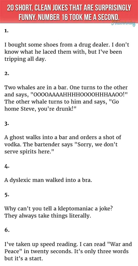 20 Jokes About by 20 Clean Jokes That Are Surprisingly Number