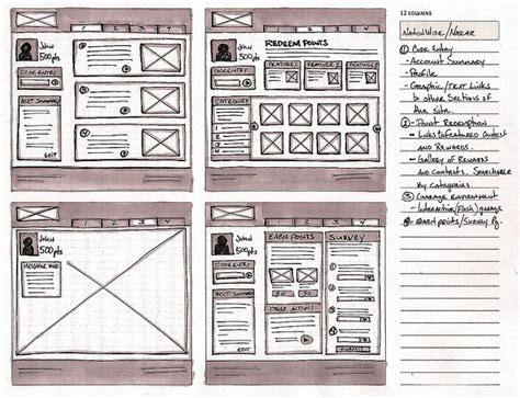 magazine layout wireframe 25 best great wireframe exles images on pinterest