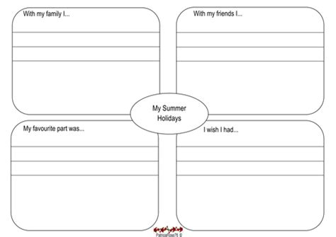 summer holiday recount plan by patriciarose76 teaching