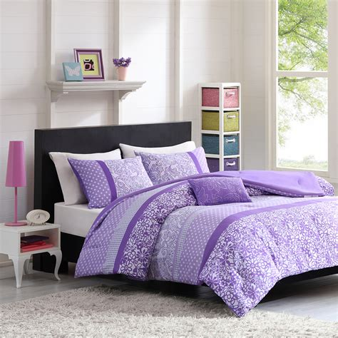 full xl comforter sets purple floral girls bedding twin xl full queen comforter