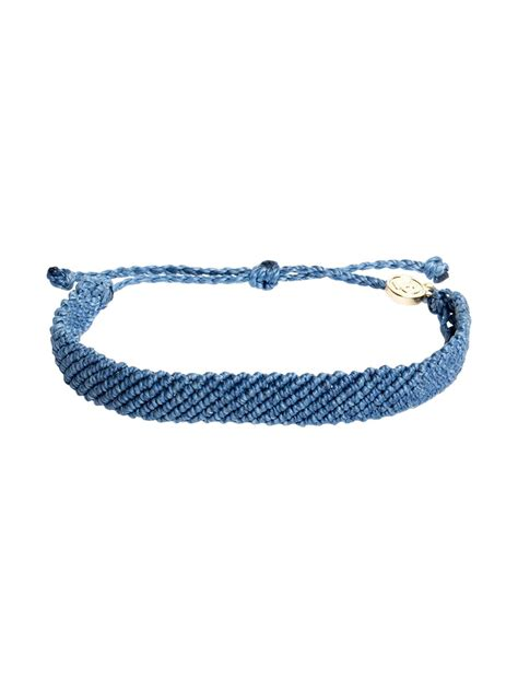 Pura vida Flat Braided Bracelet in Blue (Denim)   Lyst