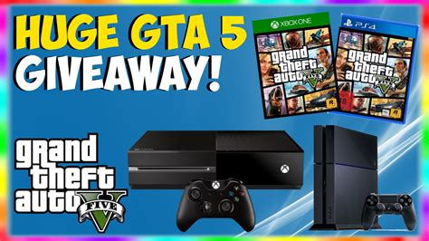 Giveaway Ps4 - gta 5 huge giveaway free xbox one ps4 giveaway how to