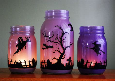 decorate a jar for jar candle set graveyard