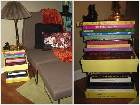 stacked book accent table accent furniture looks like stacked books room ornament