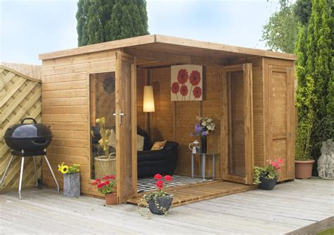 side house shed summer houses garden room with side shed 10ft x 8ft